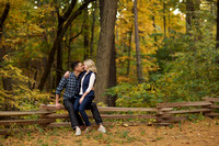 Fall engagement portraits in Ann Arbor at University of Michigan