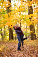 Fall engagement portrait at the Chippewa Nature Center in Midland, Michigan