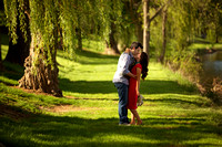 Engagement portrait in Frankenmuth, Michigan